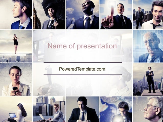 Business in Action PowerPoint Template by PoweredTemplate.com