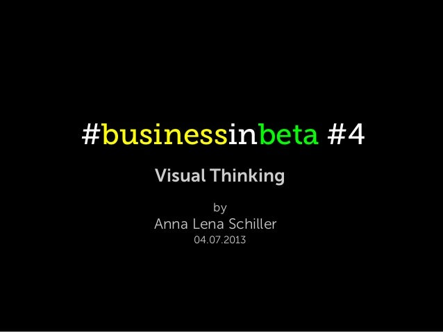 #businessinbeta #4 Visual Thinking by Anna Lena Schiller 04.07.2013