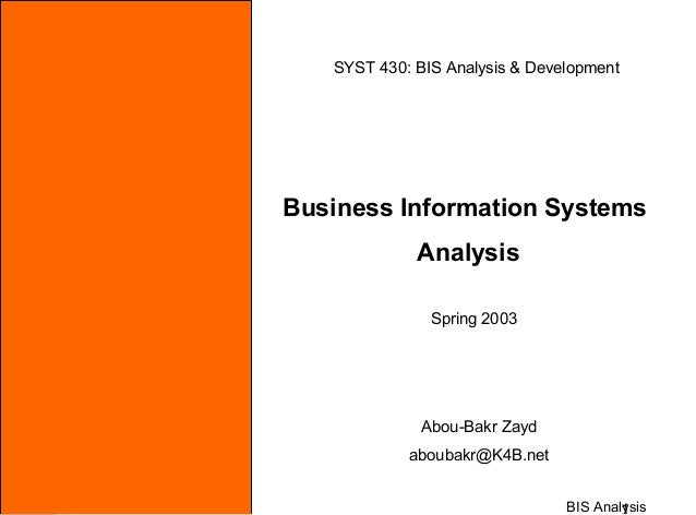 Business information systems   analysis