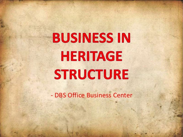 Business in heritage structure