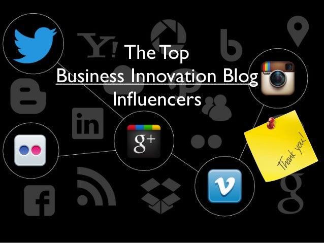 Business innovation Blog Influencers