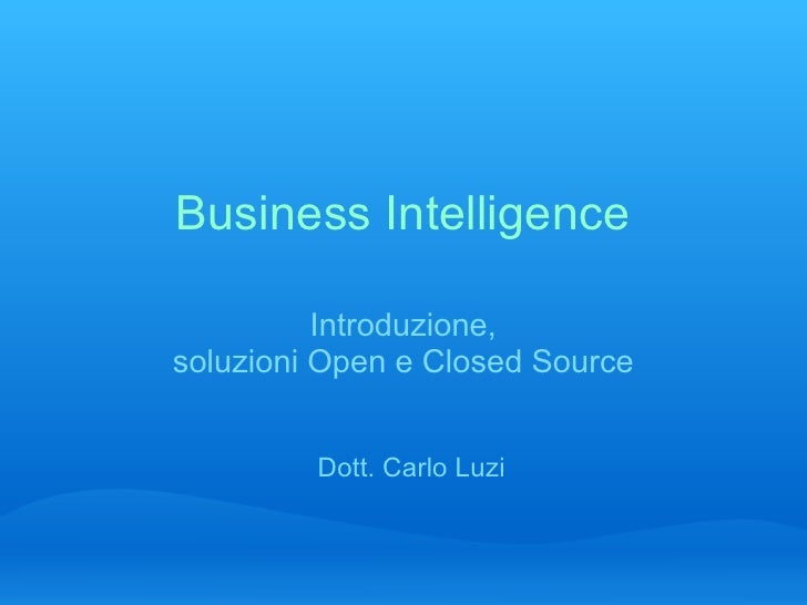 business intelligence software essay Collaborative decision-making software  collaborative decision-making (cdm) software is a  cdm associates the social software with business intelligence in.