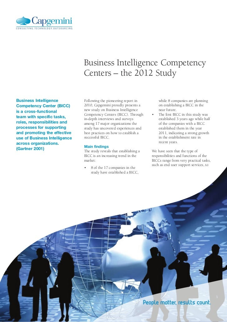Business Intelligence Competency                               Centers – the 2012 StudyBusiness Intelligence          Foll...
