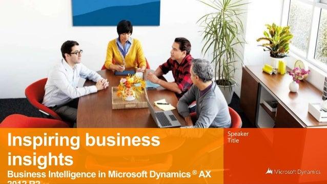 Business intelligence in microsoft dynamics ax
