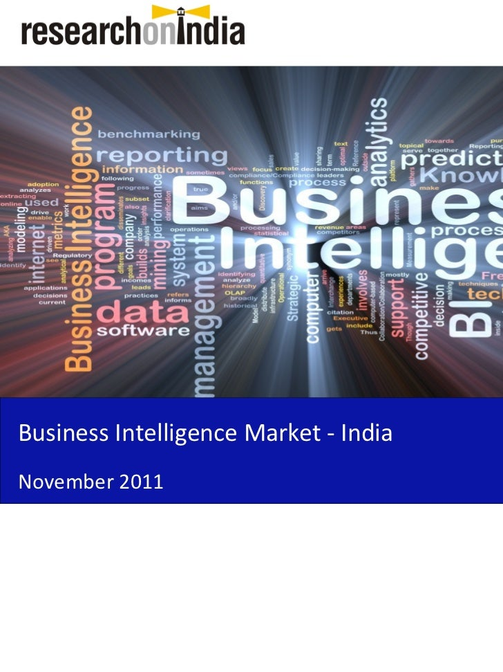 Insert Cover Image using Slide Master View                               Do not distortBusiness Intelligence Market - Indi...