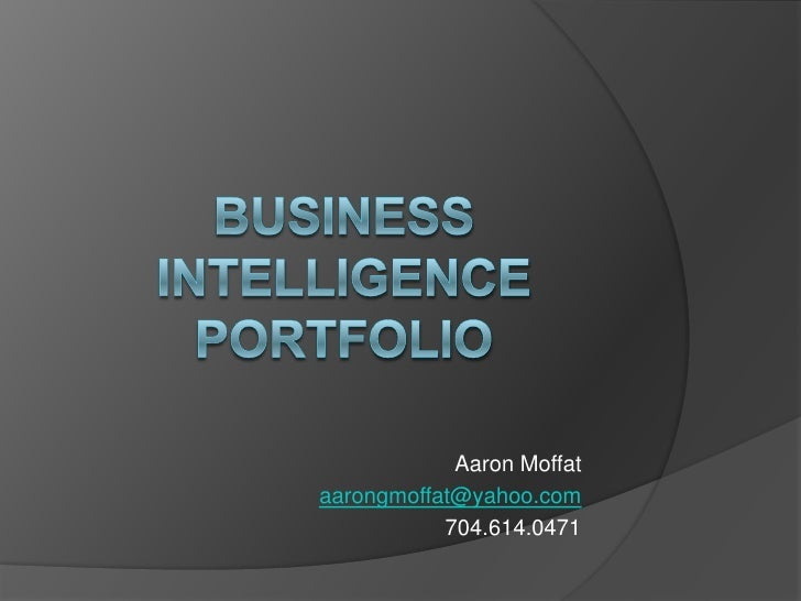 Business Intelligence Portfolio