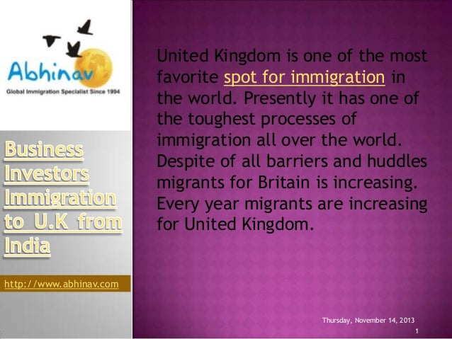 United Kingdom is one of the most favorite spot for immigration in the world. Presently it has one of the toughest process...