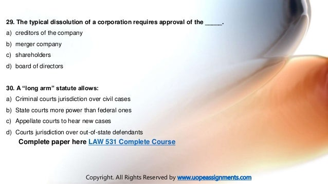 Business law assignments