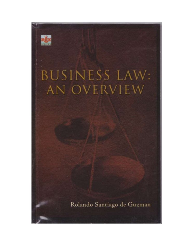TABLE OF CONTENTS                                            I                               Law on Business Transactions ...
