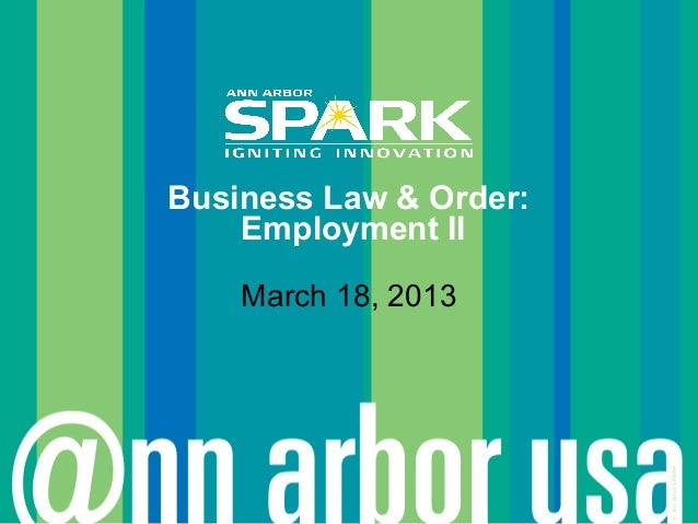 Business Law & Order - March 18, 2013