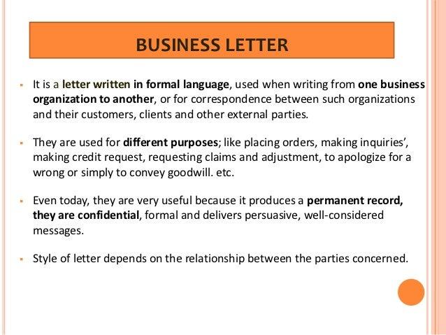 Refusal letter to customer