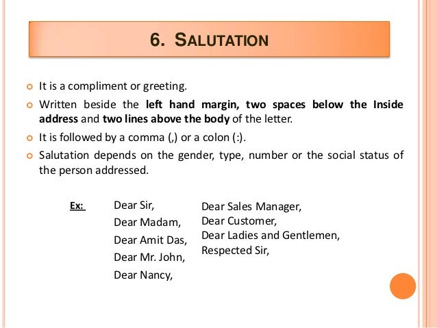cover letter salutation greetings