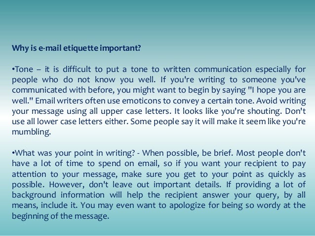 Business Letter Writing E Mail Guidelines Amp Etiquette