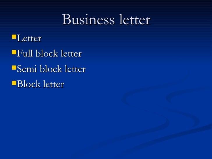 Business Letter Presentation