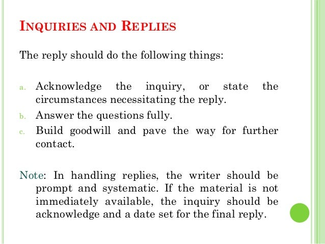 Sample Business Letter Reply Inquiry Theory Of Inquiry Letter – Sample of Inquiry Letter in Business