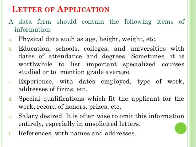 a letter of application is intended to The way you write your letter can often say a lot about you as a person how to lay out a letter include the title of the intended recipient (eg hiring.