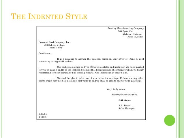 Styles And Forms Of Business Letter