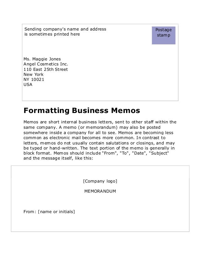Business letters in english