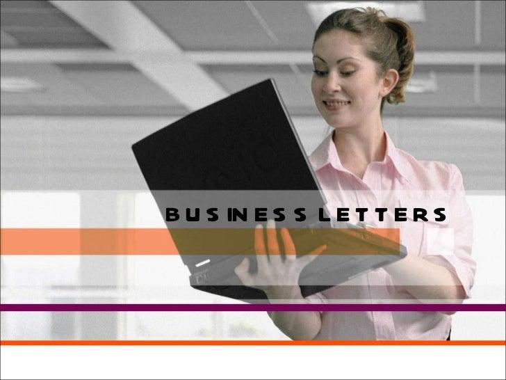 Business letters presentation[1]