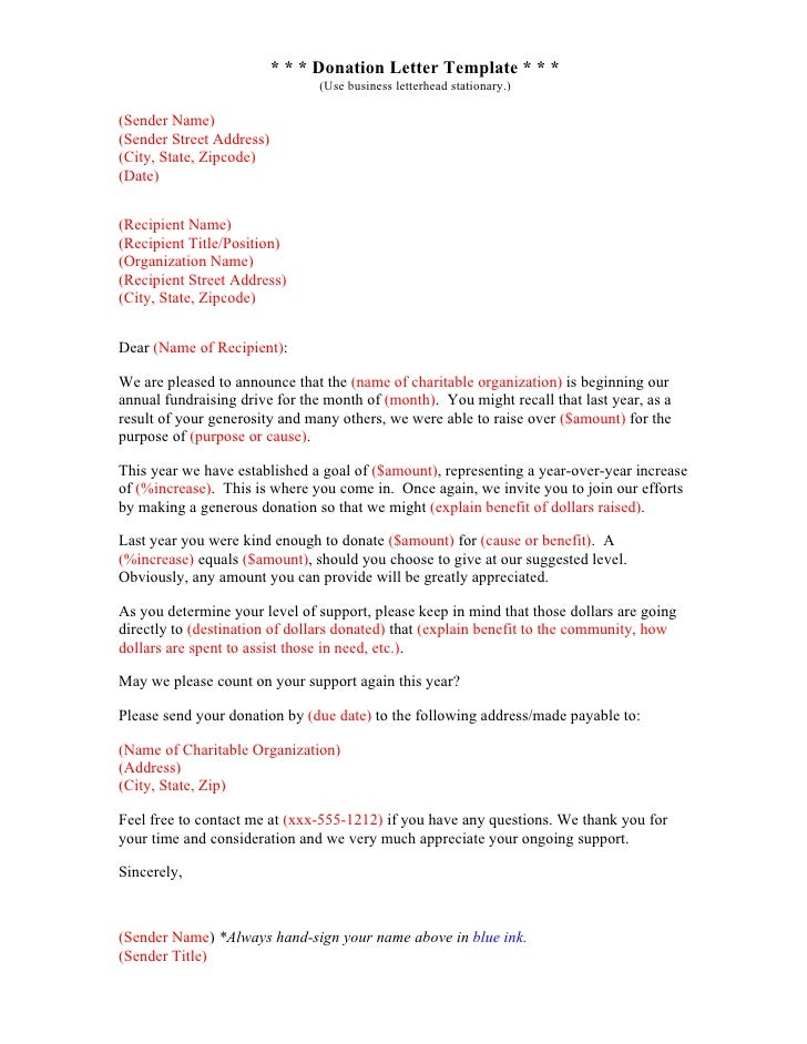 Donation Letter Sample Business Marathon Donations