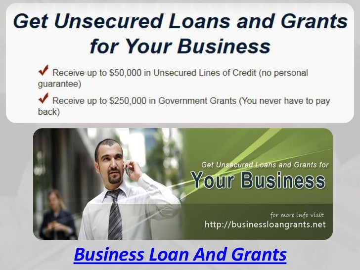Business Loan And Grants