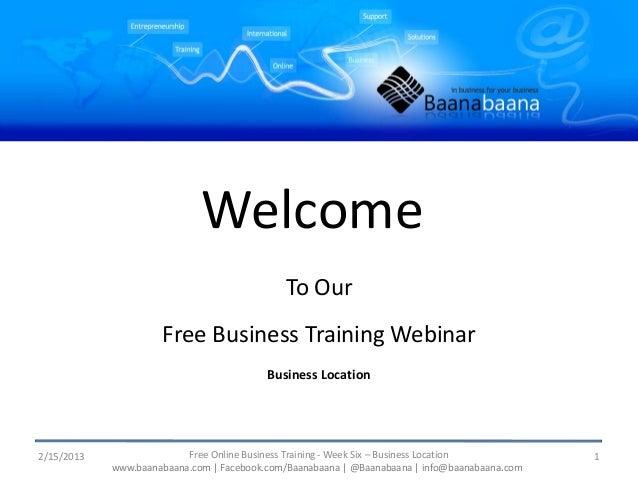 Business location - Presentation