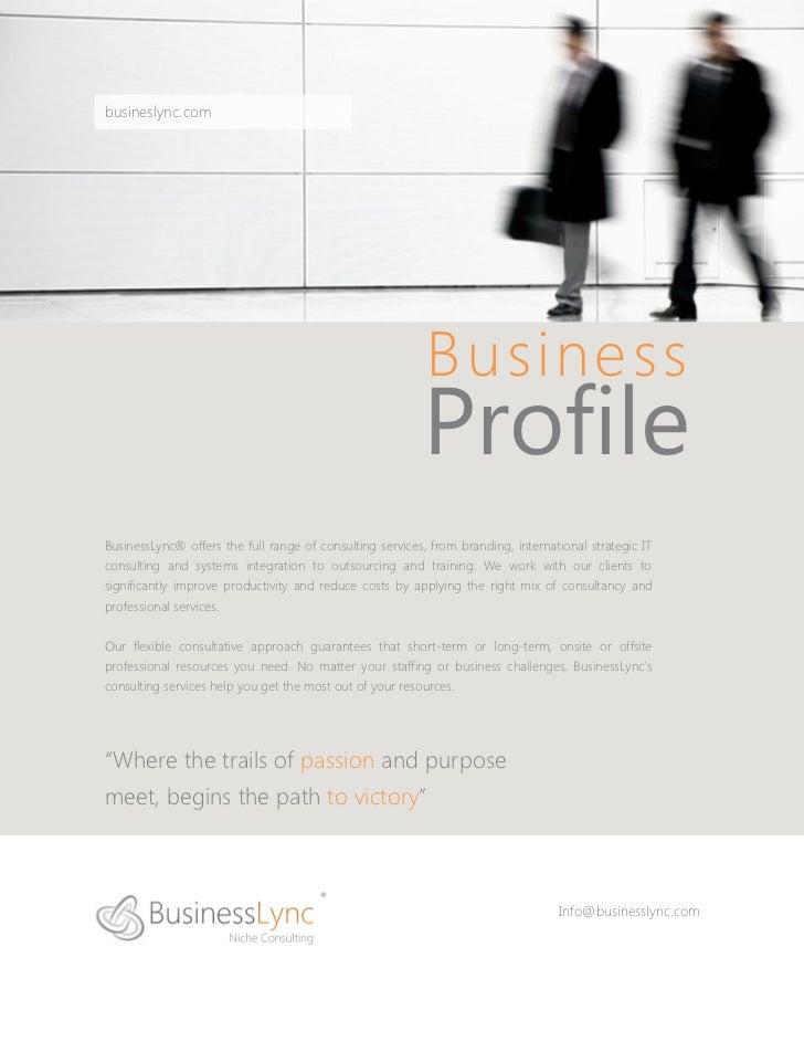 BusinessLync Consulting Company Profile