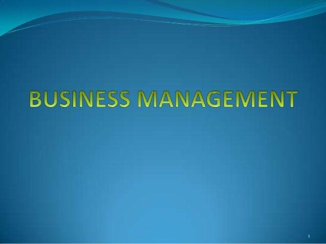 Business management (1)