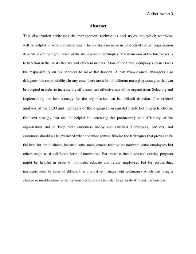Dissertation proposal in business