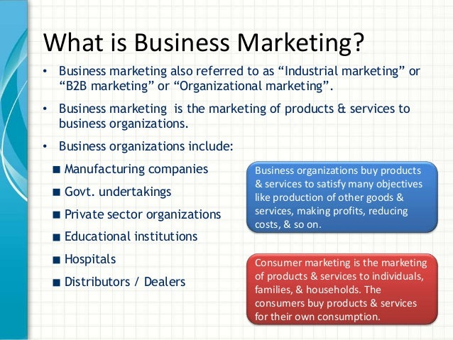commercial marketing vs consumer marketing Business marketing: understand what customers value  a supplier must have an accurate understanding of what its customers value,  in the role of a commercial.