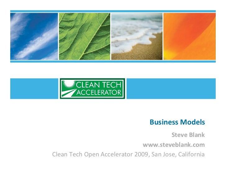 BusinessModels                                          SteveBlank                               www.steveblank.com Clea...