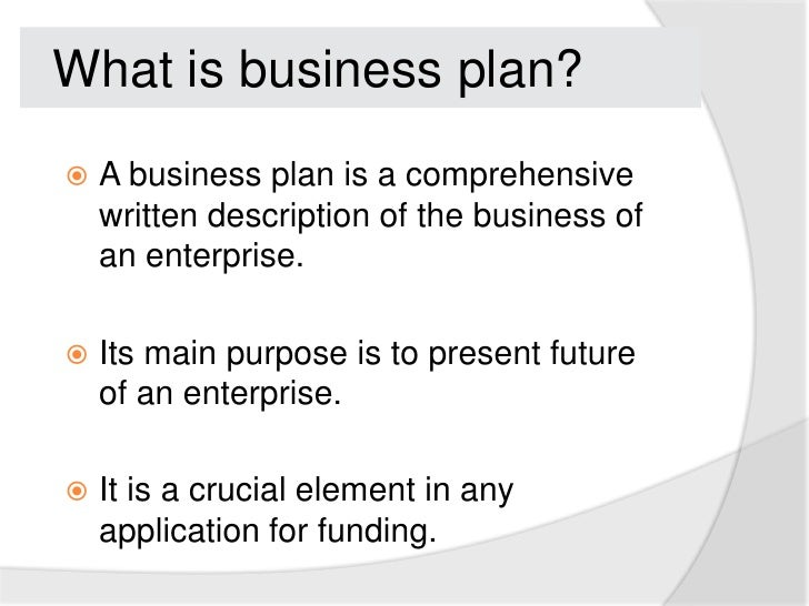 What business plan
