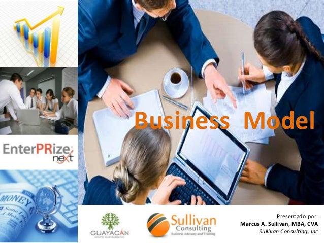 Business Model  Presentado por: Marcus A. Sullivan, MBA, CVA Sullivan Consulting, Inc