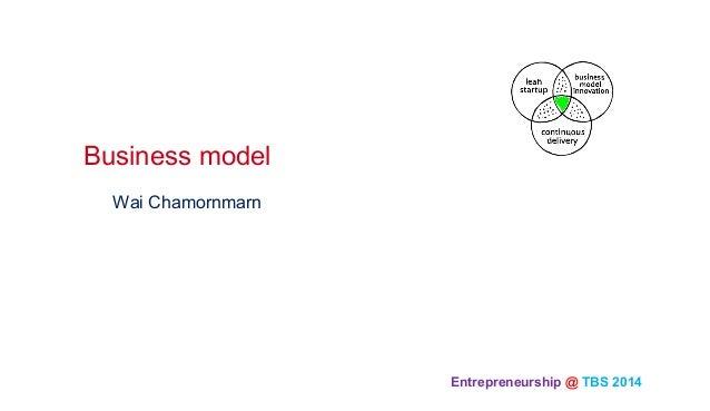 Entrepreneurship @ TBS 2014  Wai Chamornmarn Business model