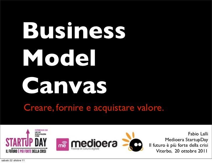 Business model canvas - Creare, fornire e acquistare valore.