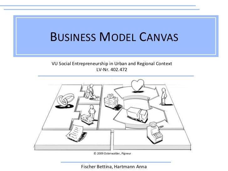 BUSINESS MODEL CANVASVU Social Entrepreneurship in Urban and Regional Context                     LV-Nr. 402.472          ...