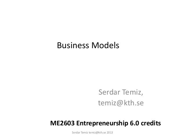 Business model canvas 2013