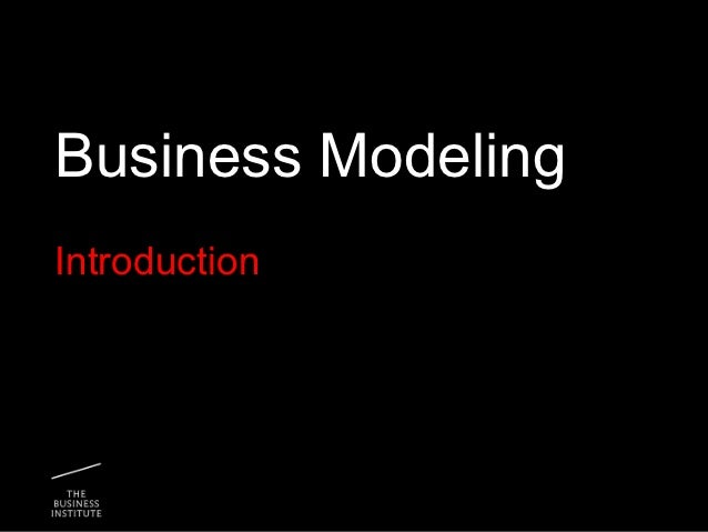 Business modeling intro