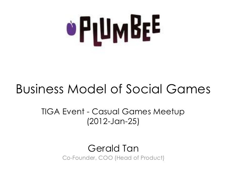 Business Model of Social Games - Gerald Tan (2011-Jan-25)