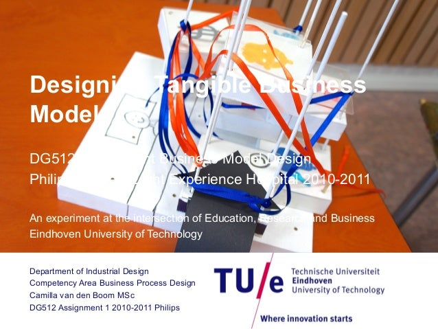 Designing Tangible Business Models DG512 Assignment Business Model Design Philips Ambient Light Experience Hospital 2010-2...
