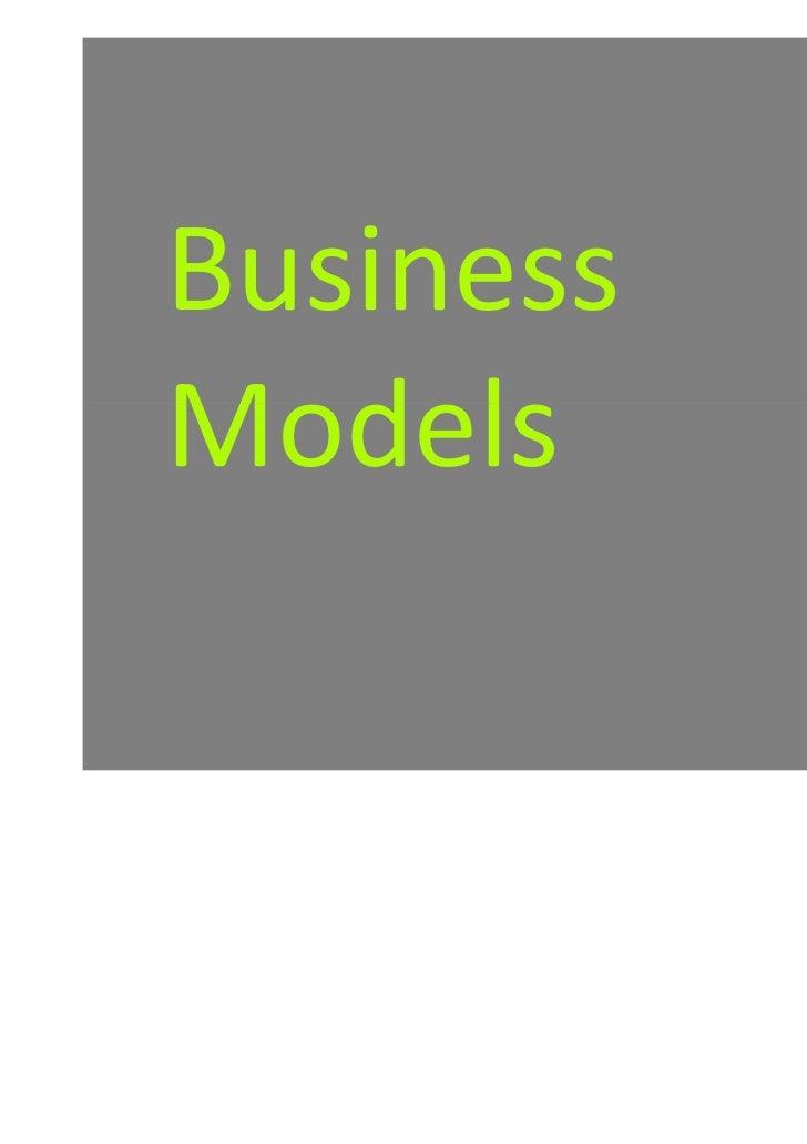Business models crash course