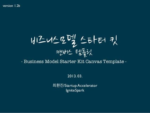 BMSKIT-template, 캔버스 활용 비즈니스 모델링 스타터 툴킷