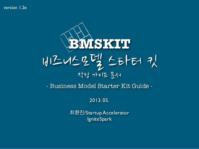 BMSKIT, 캔버스 활용 비즈니스 모델링 스타터 툴킷