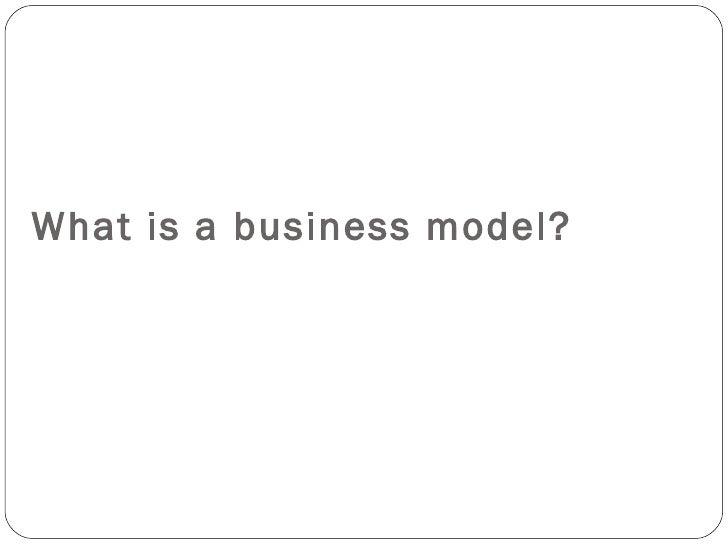 Business plan business model