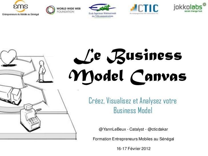 Le BusinessModel Canvas  Créez, Visualisez et Analysez votre            Business Model      @YannLeBeux - Catalyst - @ctic...