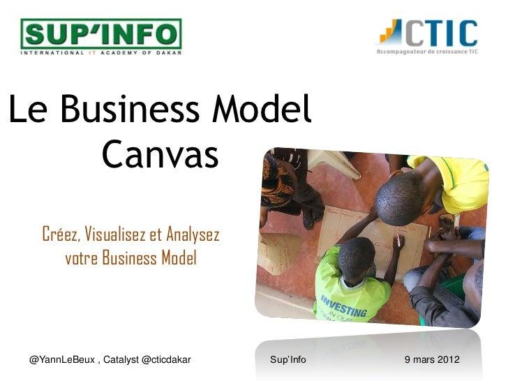 Business model workshop SupInfo Dakar 7.04.2012