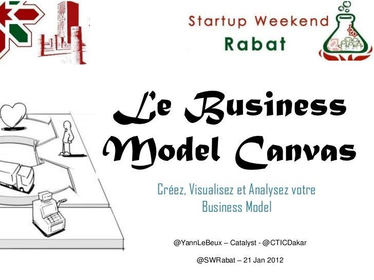 Le BusinessModel Canvas  Créez, Visualisez et Analysez votre            Business Model     @YannLeBeux – Catalyst - @CTICD...