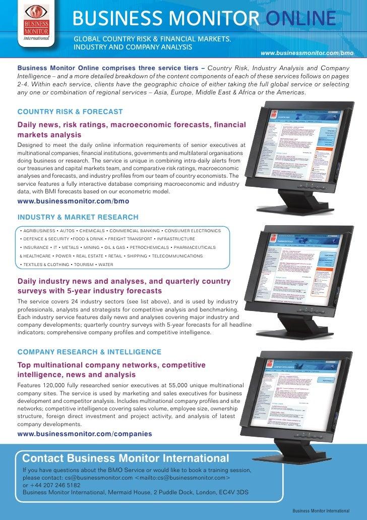 Business Monitor Online Brochure