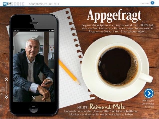 Business Navigatoren - Raimund Milz Haz24 vom 22.06.2013