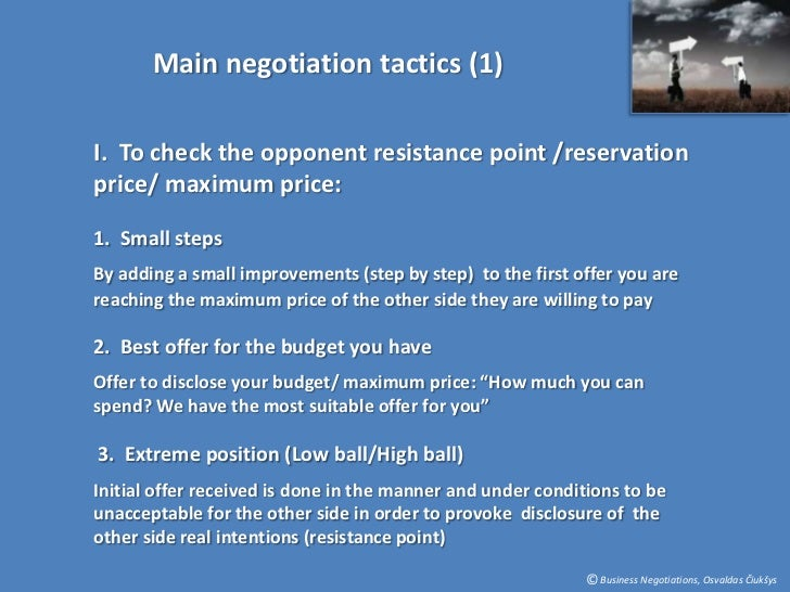 negociation negotiation and reservation price